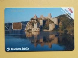 T16 - TELECARD SERBIA, CHIP, TELEKOM - CASTLE GOLUBAC - Joegoslavië