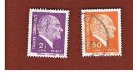TURCHIA (TURKEY)  -  SG  2622.2625  - 1978  K. ATATURK (19X25)   - USED - Brieven En Documenten