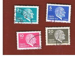 TURCHIA (TURKEY)  -  SG  2657a.2661  - 1979  K. ATATURK    - USED - Brieven En Documenten