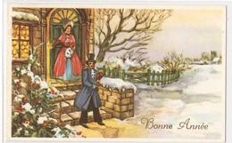 BA 1454 OLD FANTASY POSTCARD , GREETINGS  BONNE ANNEE , VIEWS And LANDSCAPES - Nieuwjaar