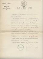 TIMBRES FISCAUX DE MONACO 1896 TIMBRE à L'EXTRAORDINAIRE Fides Publica 1F - Fiscale Zegels