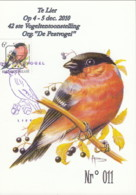 "Doc 170 - CM Nrº. 011: Te Lier:  12ste Vogeltentoonstelling ""De Pestvogel"" - 1985-.. Oiseaux (Buzin)"