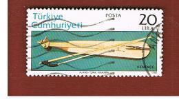 TURCHIA (TURKEY)  -  SG  2799  - 1982 MUSICAL  INSTRUMENTS: KEMENCE     - USED - 1921-... Republiek