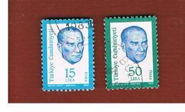 TURCHIA (TURKEY)  -  SG  2826.2827  - 1983  K. ATATURK     - USED - 1921-... Republiek