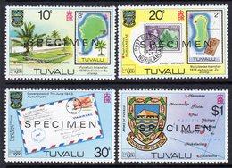 Tuvalu 1980 London '80 Stamp Exhibition Set Of 4 Optd SPECIMEN, MNH, SG 143/6 (BP2) - Tuvalu