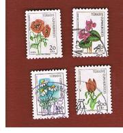 TURCHIA (TURKEY)  -  SG  2869.2872  - 1984  WILD FLOWERS     - USED - 1921-... Republiek