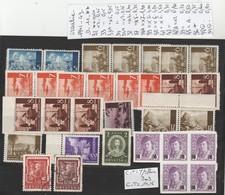 TIMBRES DE CROATIE NEUF**/*/OBLITEREES 1941-43  Nr VOIR SUR PAPIER AVEC TIMBRES   14.15   €  2 PLAQUETTES - Kroatien