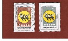 TURCHIA (TURKEY)  -  SG  2904.2908  - 1985 POST CODES     - USED - 1921-... Republiek