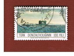 TURCHIA (TURKEY)  -  SG  2929  - 1986  SUBMARINE FLEET CENTENARY   - USED - 1921-... Republiek