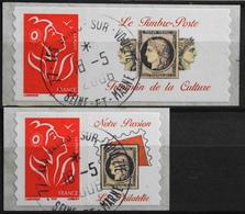 FR. 2005/06 - Marianne De Lamouche N° 3802A/02Aa Avec Vignette Oblitérée - Autoadhésif - P. Etat - Gepersonaliseerde Postzegels