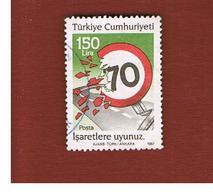 TURCHIA (TURKEY)  -  SG  2955  - 1987  ROAD SAFETY   - USED - 1921-... Republiek