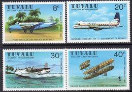 Tuvalu 1980 Aviation Commemorations Set Of 4, MNH, SG 153/6 (BP2) - Tuvalu