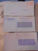 8 Enveloppe Luxembourg Printer Machine EMA - Marcophilie - EMA (Empreintes Machines)