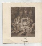 Mignonnette Double. Femme, Enfant Et Chien Au Coin Du Feu. Jean-Marie Wintgens Né Le 15 Juin 1942à Welkenraedt - Naissance & Baptême