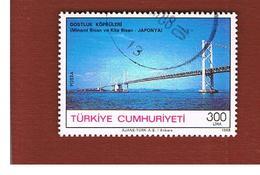 TURCHIA (TURKEY)  -  SG  3003  - 1988  SETO BRIDGE, JAPAN    - USED - 1921-... Republiek
