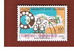 TURCHIA (TURKEY)  -  SG  3004  - 1988  TELEPHONE NETWORK    - USED - 1921-... Republiek