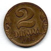 Yougoslavie / KM 20 / 2 Dinara / 1938 / TTB - Joegoslavië