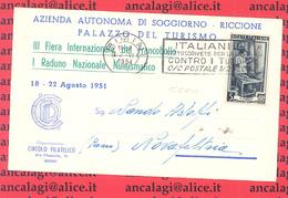 St.Post.414 - REPUBBLICA 1951 - 5°PeriodoTarif. - Piego A Stampa Da Rimini A Novafeltria 2.6.51 - 6. 1946-.. Repubblica
