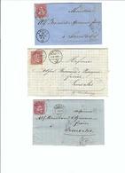 SUISSE 1869-78: 3 Enveloppes  Du Locle, Montreux Et Morat Pour Semsales - Lettres & Documents