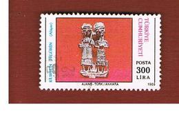 TURCHIA (TURKEY)  -  SG  3027  - 1989 ARCHEOLOGY: LEAD FIGURINE    - USED - 1921-... Republiek