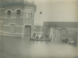 Foto Photo (9 X 11,5 Cm) Wepion Inondation - Namur