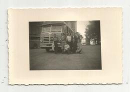 Photographie , Automobiles , Bus & Autocars , Italie ,TURIN, 85 X 65  Mm,1954 - Automobiles