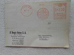 Carte Société Régis Bates Tubize  Machines à Affranchir 1957 - Machines à Affranchir