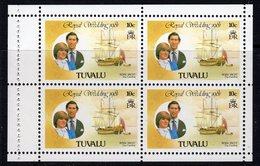 Tuvalu 1981 Royal Wedding 10c Booklet Pane, MNH, SG 175a (BP2) - Tuvalu