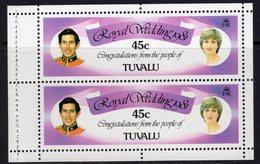 Tuvalu 1981 Royal Wedding 45c Booklet Pane, MNH, SG 176a (BP2) - Tuvalu