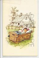 Mignonnette Double. Petite Fille, Berceau Dans La Prairie. Julie Noël, Née Le 13 Août 1983 - Naissance & Baptême