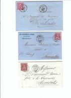 SUISSE 1867-70: 3 Enveloppes  De Morges Pour Semsales - Lettres & Documents