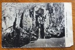 POSTUMIA TRIESTE * B * 29/10/25 Annullo SU MICHETTI 20 C.verde  CARTOLINA GROTTE POSTUMIA - IL PICCOLO MONTE CALVARIO - Trieste