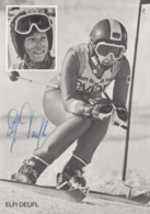 Autogrammkarte - ELFI DEUFL - Signiert - Wintersport