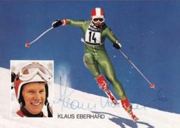 Autogrammkarte - Klaus EBERHARD- Signiert - Wintersport