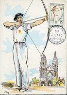50674 France Maximum 1958  Tir A L'arc     Archery,  Bogenschiessen - Boogschieten