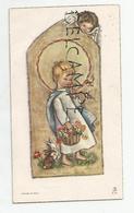 Mignonnette Enfant Jésus, Fleurs, Oiseaux, Lapins, Ange. Philippe Tromme Le 10 Avril 1960 - Communion