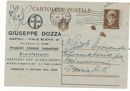 1945 CARTOLINA POSTALE 1,20 ITALIA TURRITA RESA PUBBLICITARIA CON STAMPA - 5. 1944-46 Luogotenenza & Umberto II