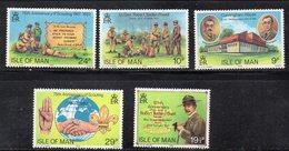 ISOLA DI MAN 1982 , Unificato Serie N. 198/202  ***  MNH . Scout - Isola Di Man