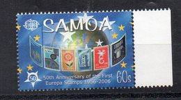 SAMOA - 50éme ANNIVERSAIRE DU PREMIER TIMBRE EUROPA - 50th ANNIVERSARY OF THE FIRST EUROPA STAMP - 2006 - - Samoa
