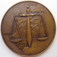 Sénégal Médaille Inauguration Du Palais De Justice De Dakar, Décembre 1958 - Firma's