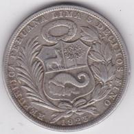 Pérou 1 Sol 1923, En Argent, KM:218.1 - Peru