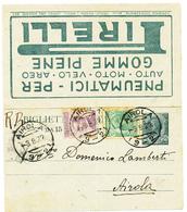 1922 BIGLIETTO POSTALE PUBBLICITARIO PIRELLI - Storia Postale