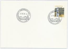 K708 - DIESBACH - Glarus - Auf Neutraler Karte - Marcophilie