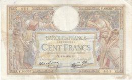 Billet 100 F L. O. Merson Du 4-8-1938 FAY 25.27 Alph. V.60357 - 1871-1952 Antichi Franchi Circolanti Nel XX Secolo