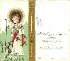 610562,Andachtsbild Heiligenbildchen Kind Hase Colegio De Jesus Peru - Andachtsbilder