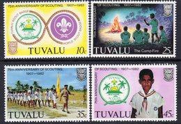 Tuvalu 1982 75th Anniversary Of Scouting Set Of 4, MNH, SG 192/5 (BP2) - Tuvalu
