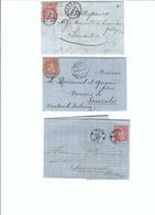 SUISSE 1867-74: 3 Enveloppes  De Moudon, Neuchâtel Et Nyon Pour Semsales - Lettres & Documents