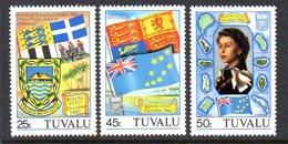 Tuvalu 1982 Royal Visit Flags Set Of 3, MNH, SG 196/8 (BP2) - Tuvalu