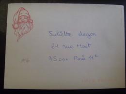 18147- Lettre Père Noël De Libourne + Carte 1986, Circulée - Noël