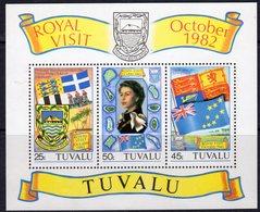 Tuvalu 1982 Royal Visit Flags MS, MNH, SG 199 (BP2) - Tuvalu